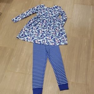 Hanna Andersson dress and leggings